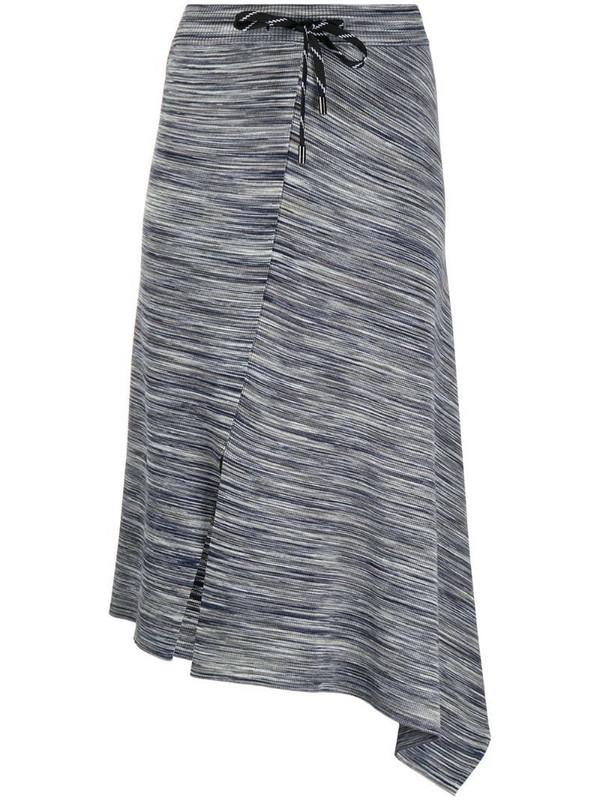 MRZ asymmetric hem skirt in blue
