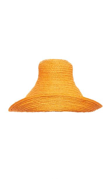 Jacquemus Le Chapeau Valensole Small Raffia Hat in orange