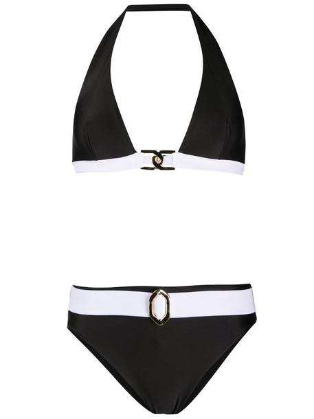 Balmain two-piece bikini set in black