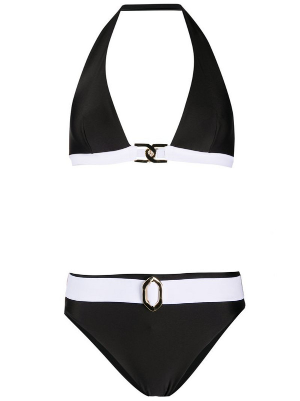 Balmain two-piece bikini set in black
