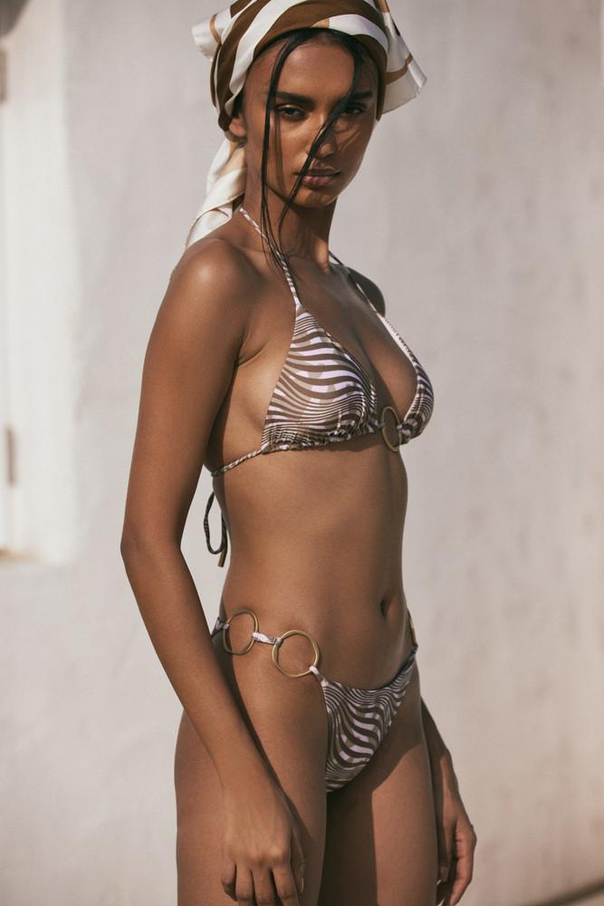 Cult Gaia Claudia Bikini Bottom - Mahogany Scarf Multi                                                                                               $149.00