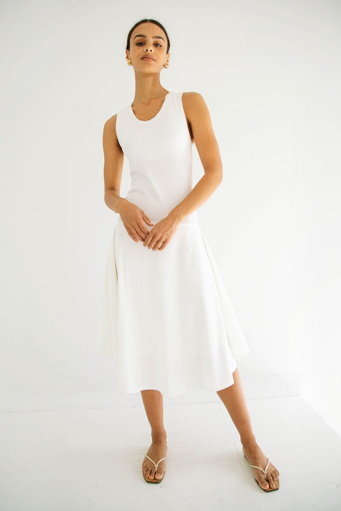 The Line by K CIAN DRESS OFF-WHITE
