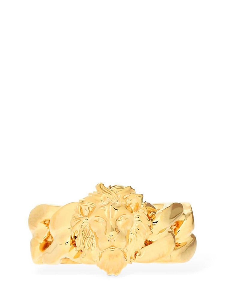 VERSUS VERSACE Braided Lion Ring in gold