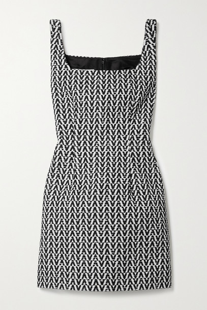 Valentino - Cotton-blend Bouclé Mini Dress - Black