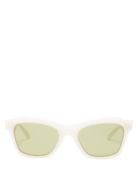 Celine Eyewear - Rectangular Acetate Sunglasses - Womens - White