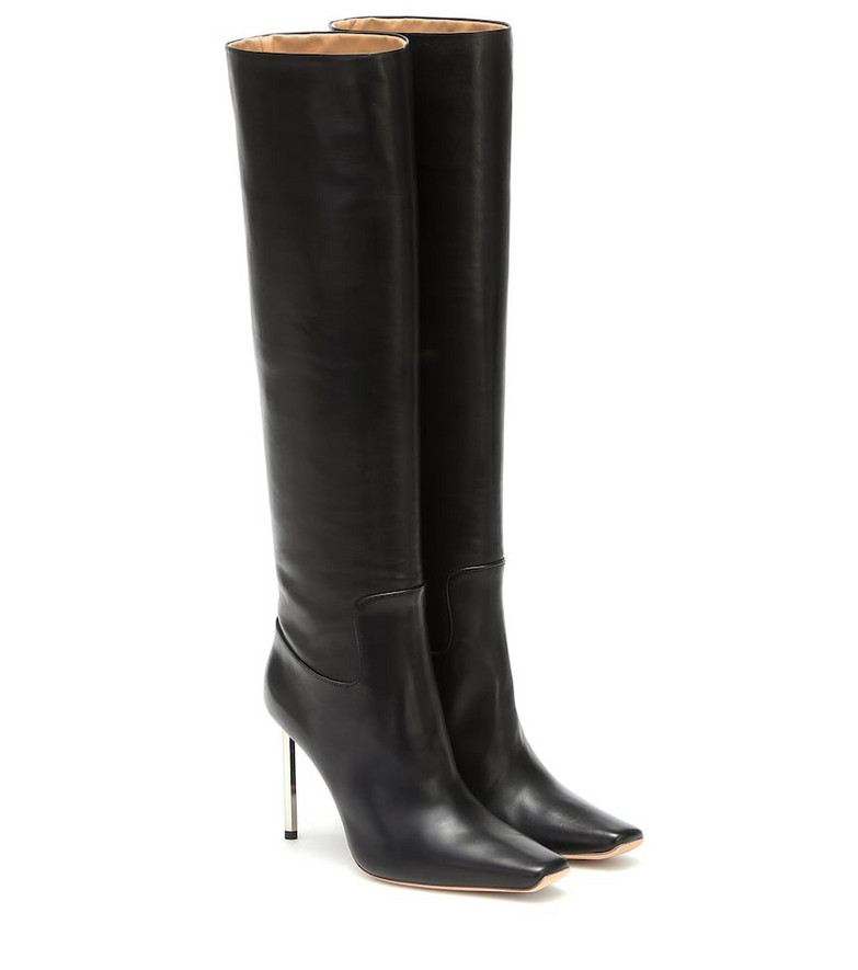 Off-White Allen knee-high leather boots in black