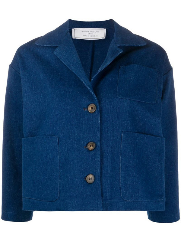 Société Anonyme cropped sleeve buttoned jacket in blue