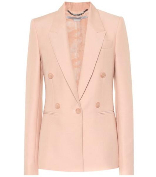 Stella McCartney Wool blend blazer in pink