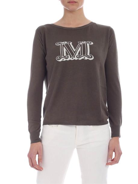 Max Mara Max Mara Linen And Silk Blend Sweater in gray