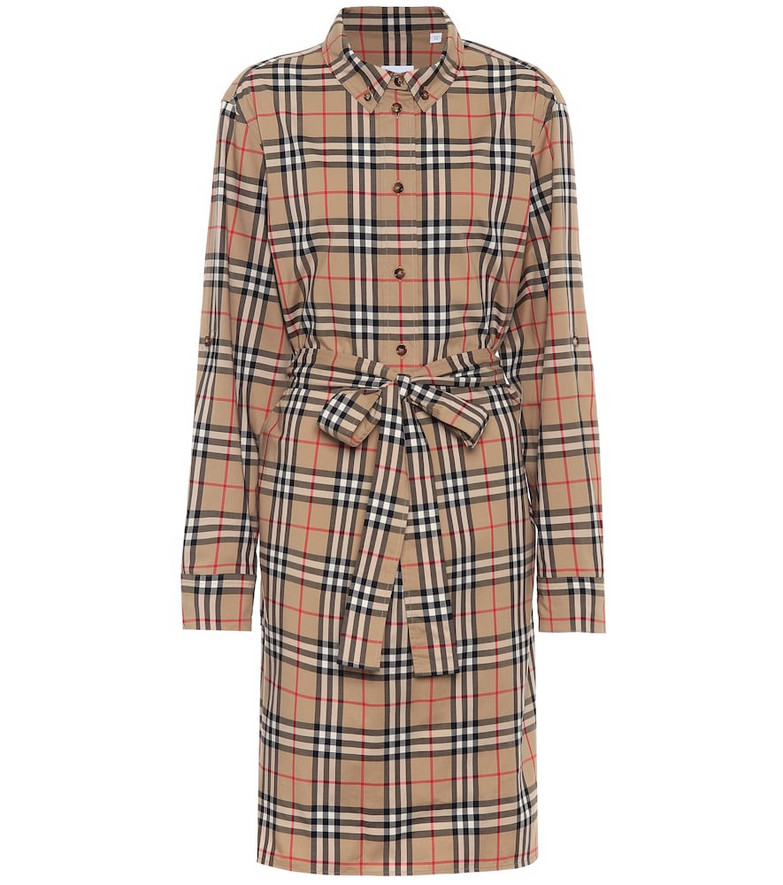 Burberry Vintage Check stretch-cotton shirt dress in beige