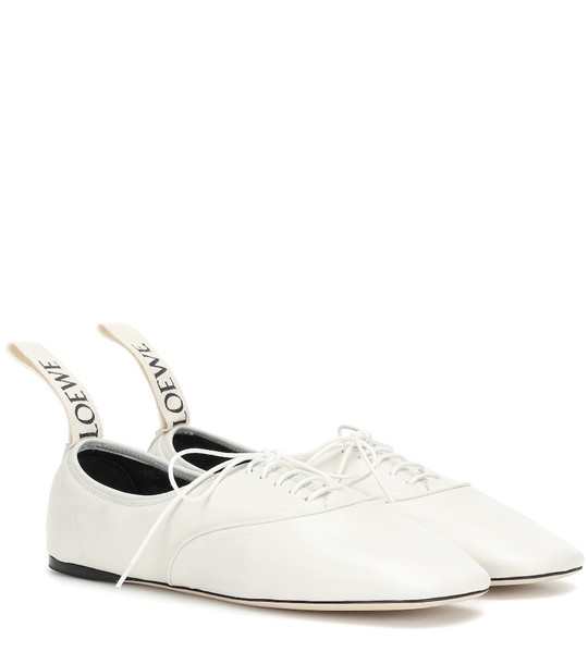 Loewe Leather derby shoes in white