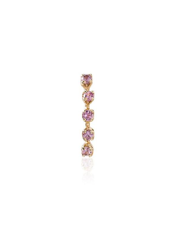 Loren Stewart 14kt gold sapphire-embellished earring in pink