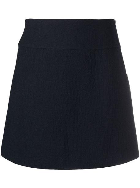 A.P.C. A-line miniskirt in blue