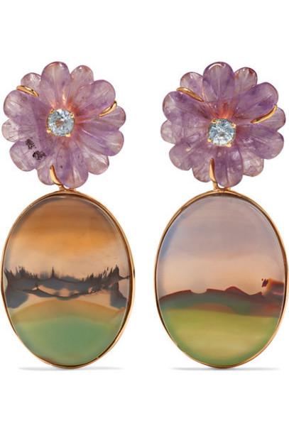 Guita M - 18-karat Gold Multi-stone Earrings