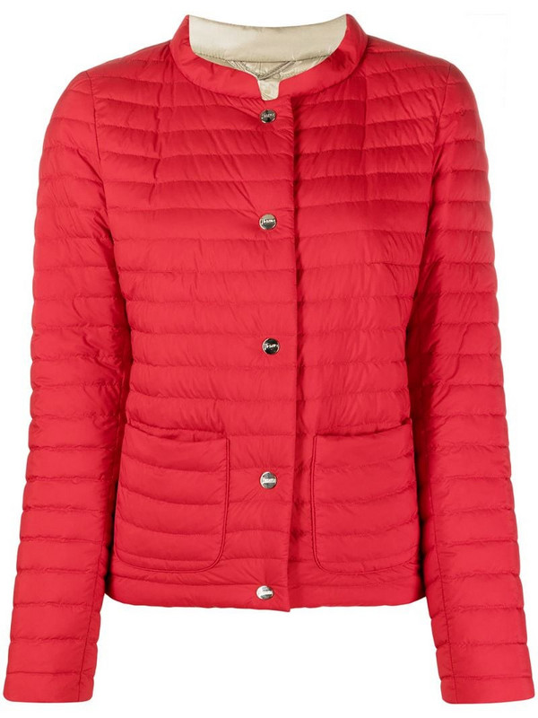 Herno reversible padded jacket in red