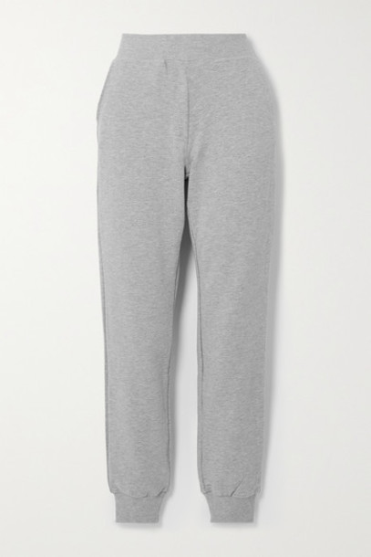 L'Agence - The Moss Stretch Cotton And Modal-blend Track Pants - Gray