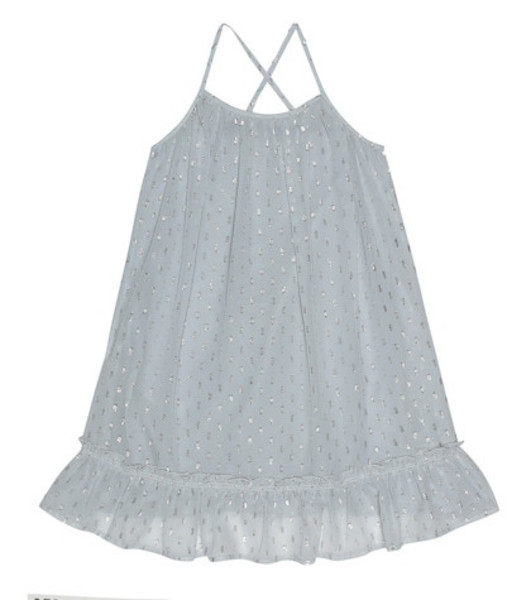 Stella McCartney Kids Ruffle-trimmed dress in grey
