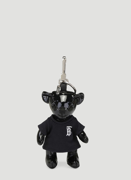Burberry Teddy Bear T-Shirt Keyring in Black size One Size