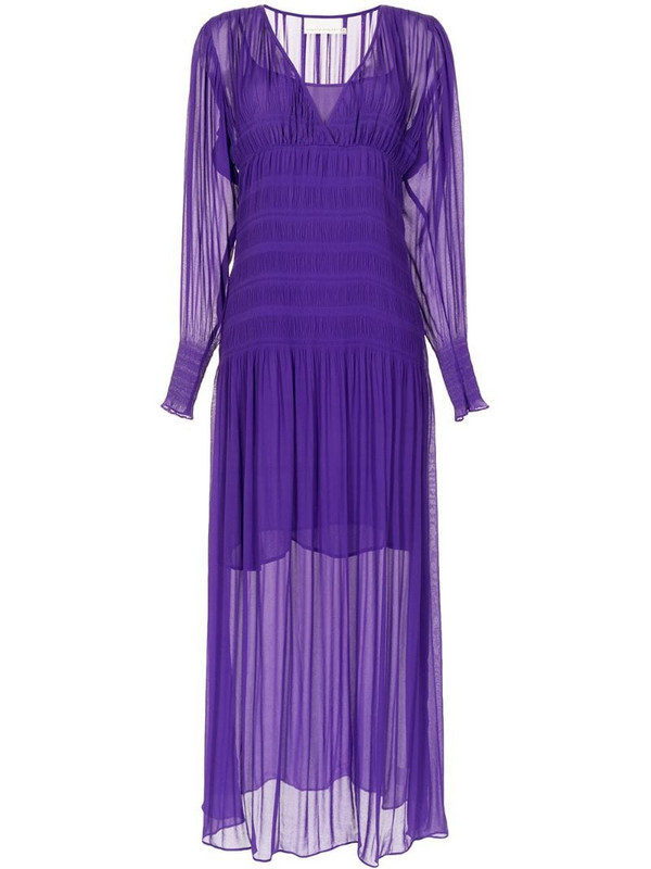 Ginger & Smart Evolution pleated gown in purple
