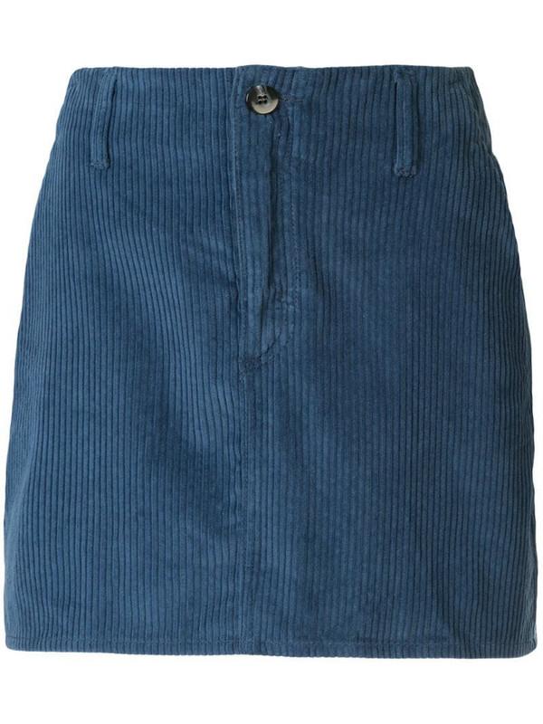Nobody Denim Esoteric corduroy skirt in blue