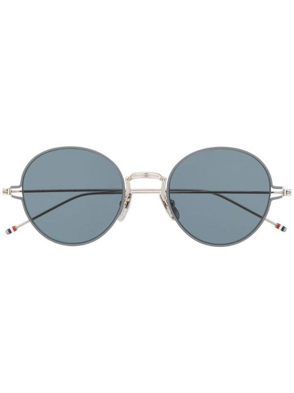 Thom Browne Eyewear round-frame sunglasses in silver