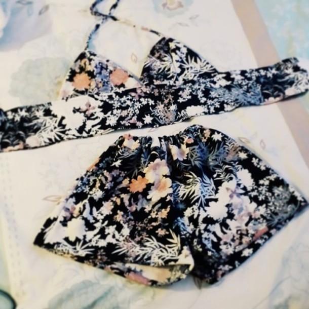 shorts floral summer shirt