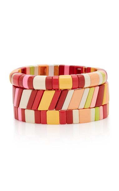 Roxanne Assoulin Set-Of-Three Negroni Zinc Bracelets in multi