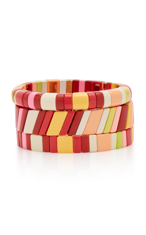 Roxanne Assoulin Set-Of-Three Negroni Zinc Bracelets in multi