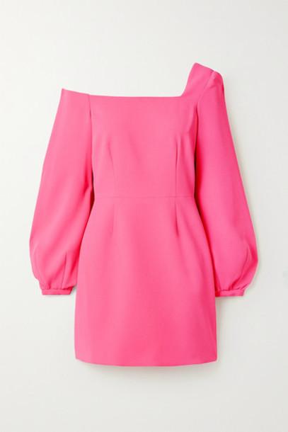 Racil - Debbie One-shoulder Crepe Mini Dress - Pink