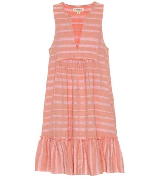 Lemlem Tatyu cotton-blend minidress in pink