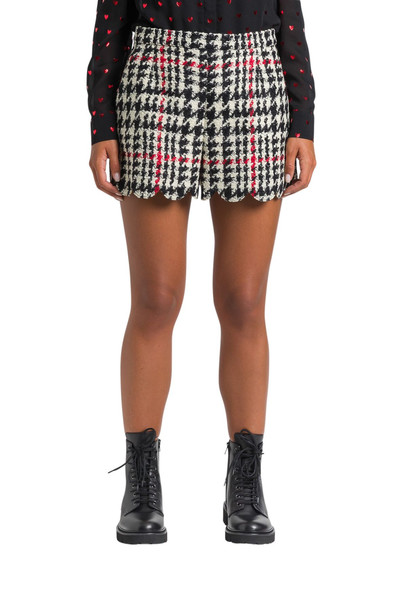 RED Valentino Checked Tweed Shorts in nero