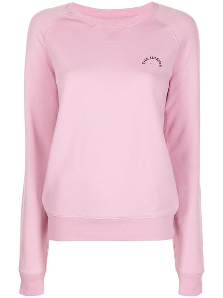The Upside logo-print sweatshirt - Pink