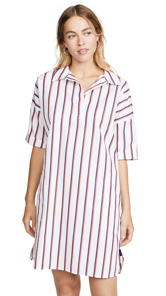KULE The Izzy Shirtdress in navy / white