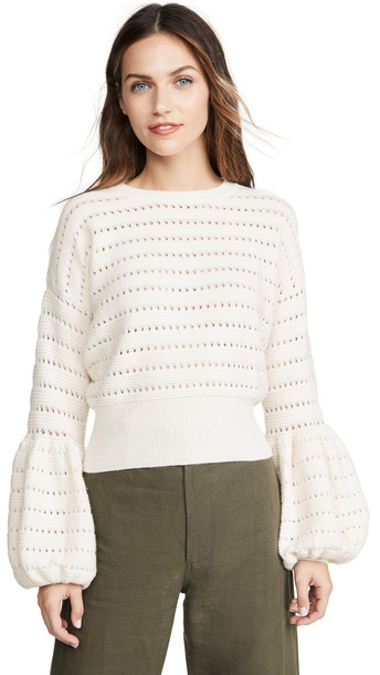 MISA Vayda Sweater in white