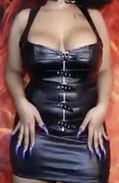 dress,black dress,leather dress