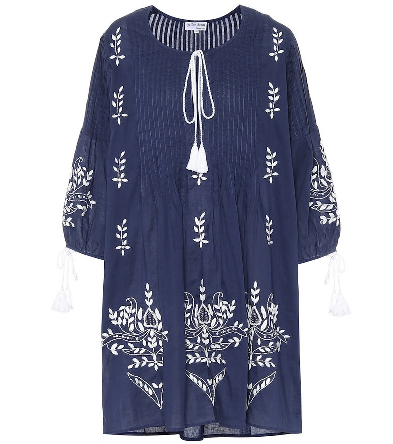 Juliet Dunn Exclusive to Mytheresa – Printed cotton dress in blue