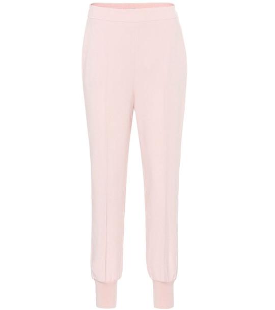 Stella McCartney Julia stretch-crêpe tapered pants in pink