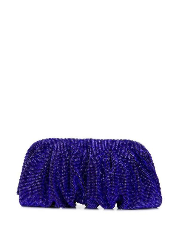 Benedetta Bruzziches crystal clutch bag in blue
