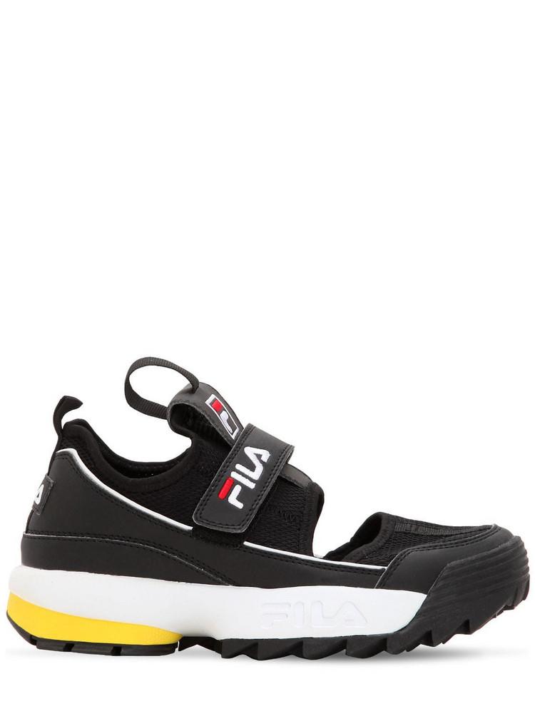 FILA URBAN Disruptor Half Sandal Flats in black