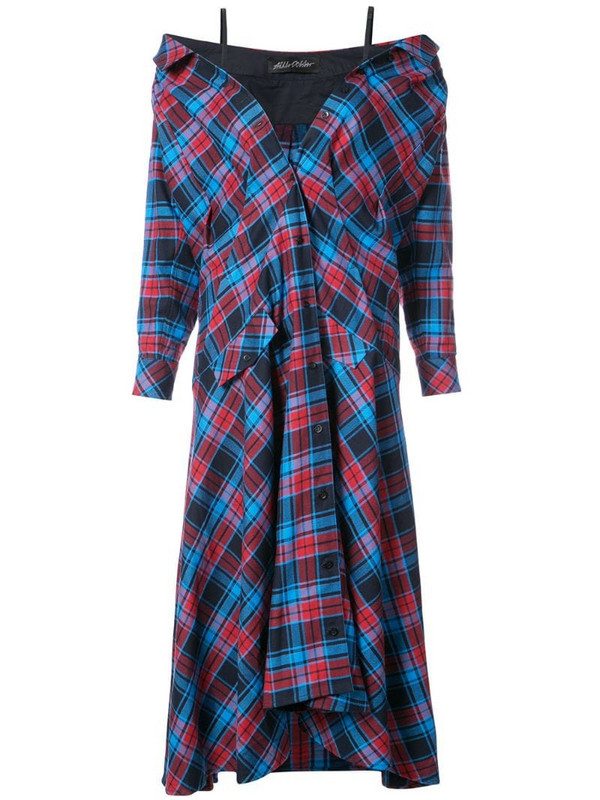 Anna October plaid maxi dress in red