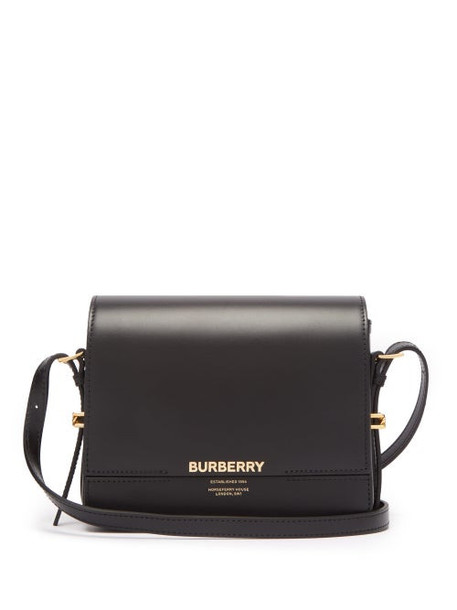 Burberry - Grace Small Leather Shoulder Bag - Womens - Black