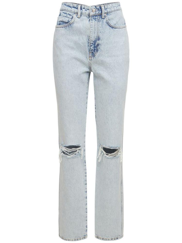 ALEXANDER WANG High Waist Distressed Denim Jeans in blue