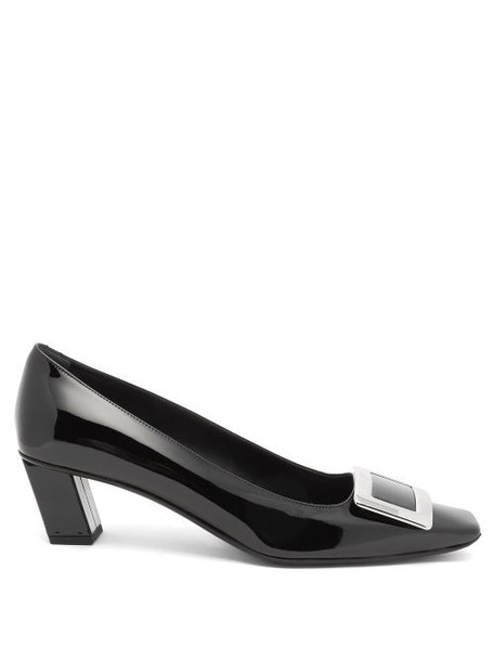 Roger Vivier - Belle Vivier Buckled Patent-leather Pumps - Womens - Black