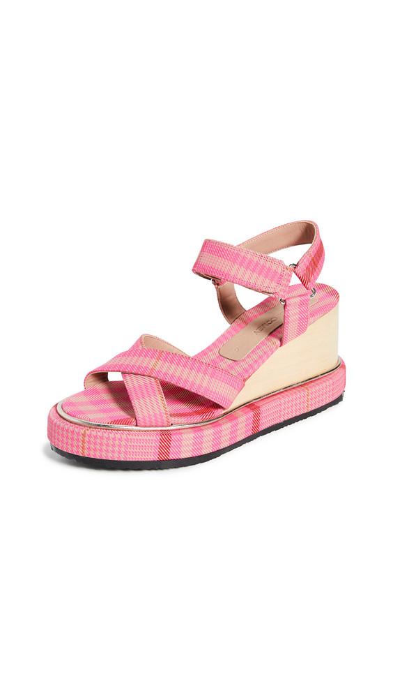 Rachel Comey Seil Wedge Sandals in pink