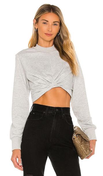 superdown Adalyn Wrap Sweater in Light Grey
