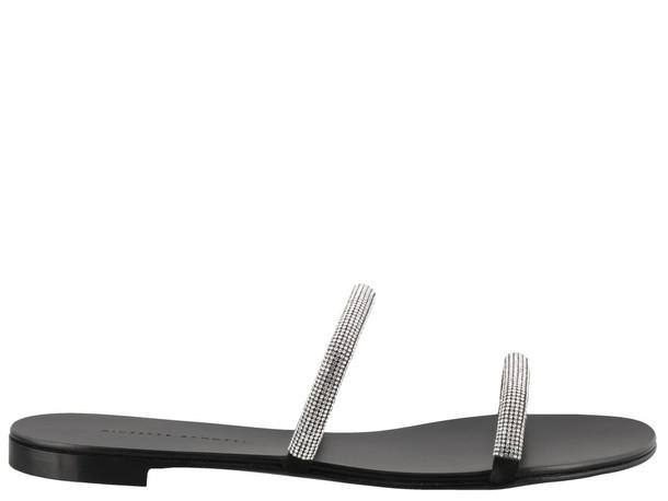 Giuseppe Zanotti Croisette Crystal Sandals in black