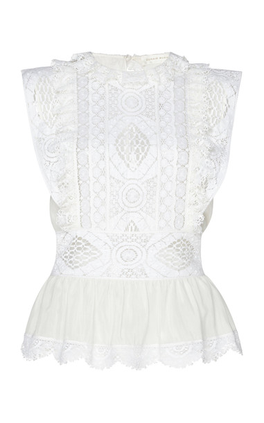 Zuhair Murad Guipure Lace Blouse Size: 32 in white