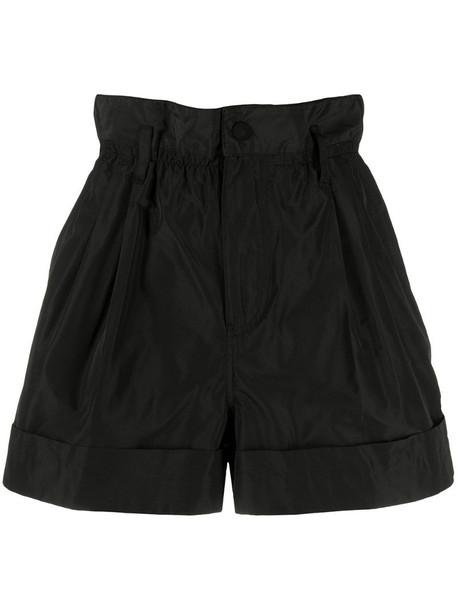 Moncler paperbag-waist shorts in black