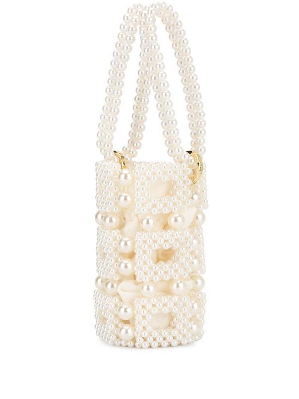0711 Esmeralda bucket bag in white