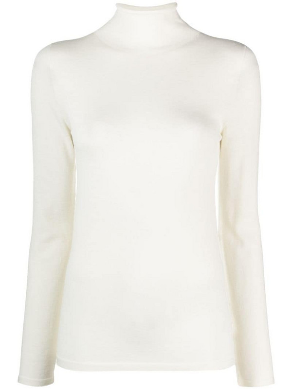 Zanone roll-neck knitted top in neutrals